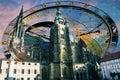 Prague astromonical clock and castle Stock Photos