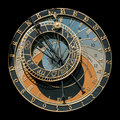 Prague Astronomical Clock Stock Photo