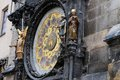 Prague astronomical clock with apostels old Stock Photos