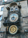 Prague astronomical clock czech republic Royalty Free Stock Photo