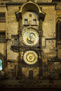 Prague astronomical clock at night Royalty Free Stock Photography