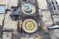 Prague astronomical clock at night czech republic Royalty Free Stock Image