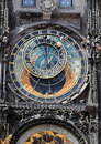 Prague, astronomical clock on Old Town Hall Royalty Free Stock Photo