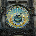Prague astronomical clock in old town square Stock Photos