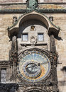 Prague astronomical clock one of the most famous landmarks in Royalty Free Stock Photo