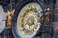 The prague astronomical clock or prague orloj czech republic Royalty Free Stock Photography
