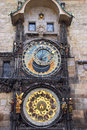 The prague astronomical clock or prague orloj czech republic Royalty Free Stock Photo
