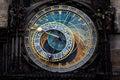The prague astronomical clock prague orloj czech republic Stock Photo