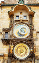 The prague astronomical clock prague orloj at the old town squ square in czech republic Stock Photography