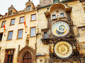 The prague astronomical clock prague orloj at the old town squ square in czech republic Stock Photo