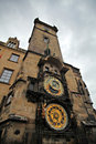 Prague astronomical clock tower Royalty Free Stock Photos