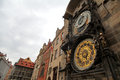 Prague astronomical clock tower Stock Photo