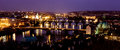 Prague bridges christmas evening photo in Royalty Free Stock Photo