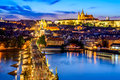 Prague Castle and Charles Bridge, Czech Republic Royalty Free Stock Photo