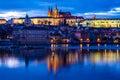 Prague Castle over Vltava River-Prague,Czech Rep. Royalty Free Stock Photo