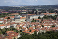 Prague castle panoramic view from television tower Stock Image