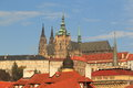 Prague castle the seen from charles bridge czech republic Royalty Free Stock Images