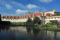 Prague castle seen from wallenstein garden czech republic Stock Image