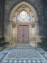 Prague Cathedral Door Royalty Free Stock Photography