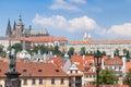 Prague charles bridge dans la république tchèque de prague Image libre de droits