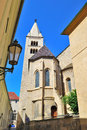 Prague church of st george czech republic view the at castle Royalty Free Stock Photo