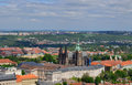 Prague city roof top view Royalty Free Stock Photo