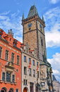 Prague Clock Tower and Old Town Hall Royalty Free Stock Photo