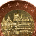 Prague on the coin. Stock Image