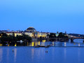 Prague czech republic in the evening Stock Photo