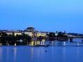 Prague czech republic in the evening Stock Photo