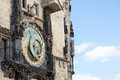 Prague czech republic old astronomical clock in the center square of Royalty Free Stock Photo