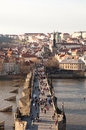 Prague czech republic photo of view of the lesser town with the old town bridge tower a city and capital population million people Stock Photo