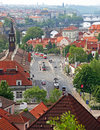 Prague downtown aerial view Royalty Free Stock Photo
