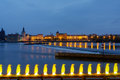 Prague embankment Royalty Free Stock Photos