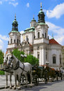 Prague horses Stock Images