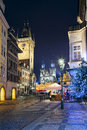 Prague image of capital city of czech republic during christmas time Stock Photo