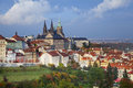 Prague image of capital city of czech republic during sunny autumn day Stock Photography