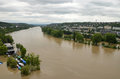 Prague jun flooding in prague swollen river vltava Stock Images
