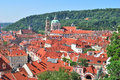Prague lesser town czech republic in a sunny summer day Stock Photo