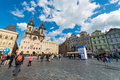 Prague may old town square on may in stock photography concept for usage Royalty Free Stock Image