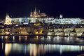 Prague at night image of capital city of czech republic Royalty Free Stock Image