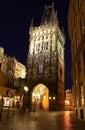 Prague night street Royalty Free Stock Photo