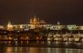 Prague by Night Royalty Free Stock Photo