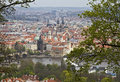 Prague old city centre view of from petrin hill Royalty Free Stock Photo