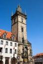 Prague Old City Hall Clock Tower Stock Photography