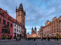 Prague, Old Town City Hall and Church of Our Lady Stock Photo