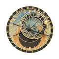 Prague Orloj astronomical clock cutout Royalty Free Stock Photo