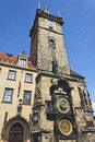 Prague orloj old clock machine city hall Royalty Free Stock Photography