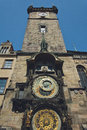 Prague orloj old clock machine city hall Royalty Free Stock Image