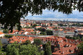Prague overview a panoramic of the city of Royalty Free Stock Photography